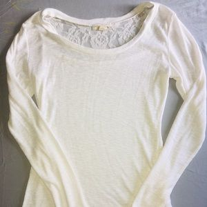 Derek Heart Cream Long Sleeve with Lace on Back